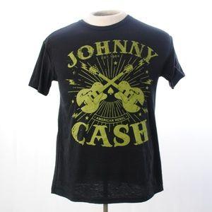 "Other - Johnny Cash ""American Rebel"" Tee T-shirt Black"